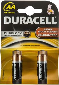 Baterii Alcaline AA LR6 1.5V Duracell 2buc