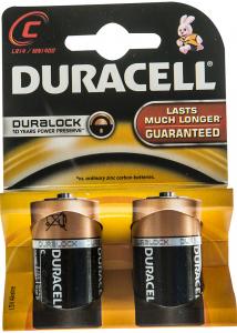 Baterii Alcaline C LR14 Duracell 2buc