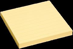 Notes adeziv liniat Info 100x100mm, 100 file