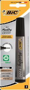 Marker Permanent BIC ECOlutions 2000, varf rotund, negru, 1 bucata