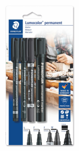 Set markere permanente 4/set, Staedtler