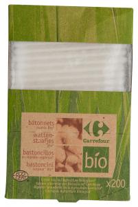 Betisoare urechi ecologice Carrefour Bio 200bucati