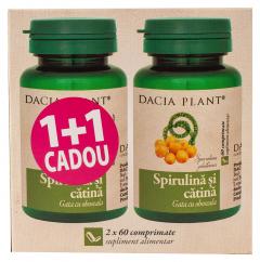 Spirulina si catina Dacia Plant 1+1 cadou