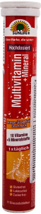 Tablete efervescente cu multivitamine si minerale Sun Life