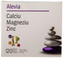 Calciu Magneziu Zinc Alevia 20 plicuri