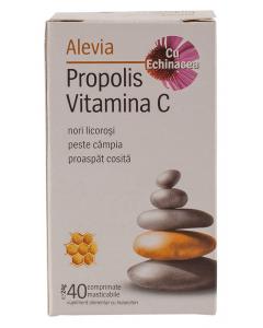 Propolis Vitamina C cu Echinacea Alevia 40 comprimate