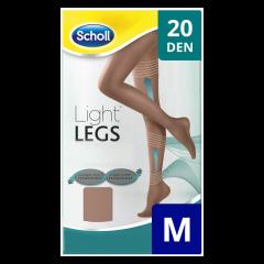 Ciorapi compresivi 20 DEN bej, marime M Scholl Light Legs