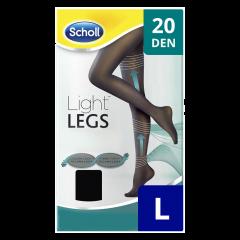 Ciorapi compresivi 20 DEN negru, marime M Scholl Light Legs