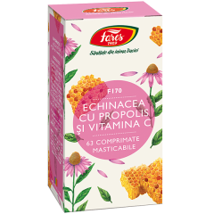 Echinacea cu Propolis si Vitamina C, F170, Fares, 60 comprimate