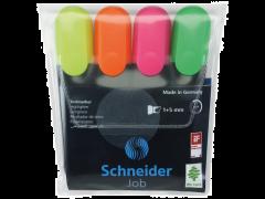 Textmarker job diverse culori set 4 bucati Schneider