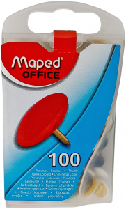 Pioneze color Maped Office 100buc cutie