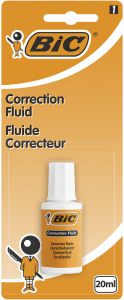Corector fluid BIC Correction Fluid, 20 ml, 1 bucata