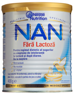Lapte praf premium fara lactoza Nestle Nan 400g