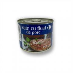 Pate cu ficat de porc Carrefour 200g