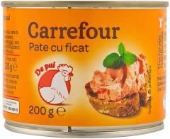 Pate cu ficat de pui Carrefour 200g