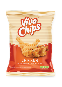 Chips cu aroma de pui Viva 100g