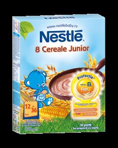 Cereale pentru copii sugari 1 an+ Nestle 8 Cereale Junior 250g