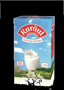 Lapte praf integral Raraul 26% grasime 500g