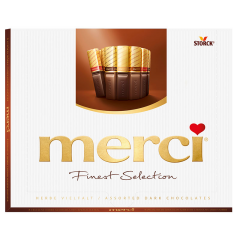 Ciocolata neagra asortata Merci Finest Selection 250g