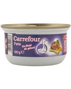 Pate cu ficat de gasca Carrefour 120g