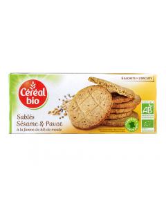 Biscuiti bio cu unt, susan si mac Cereal Bio 132g