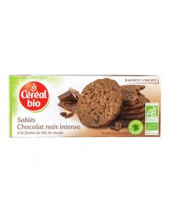 Biscuiti bio cu ciocolata neagra Cereal 132g