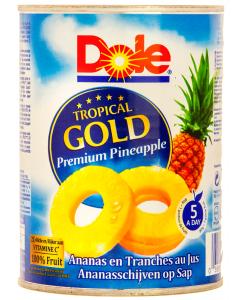 Felii de ananas in suc Dole 567g