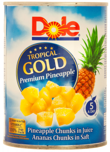 Bucati de ananas in suc Dole 567g