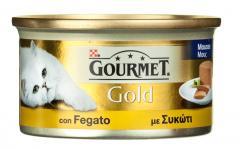Hrana completa pentru pisici cu ficat Purina Gourmet Gold 85g
