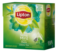 Ceai verde cu menta 20 pliculete Lipton 32g