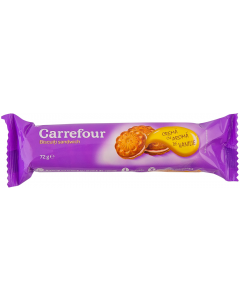 Biscuiti sandwich Carrefour 72g
