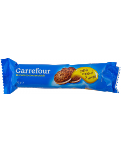 Biscuiti cacao sandwich Carrefour 72g