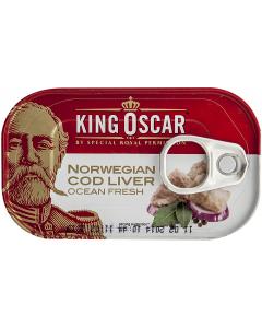 Ficat de cod in ulei propiu King Oscar 121g