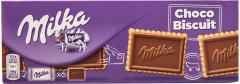 Biscuiti cu unt acoperiti cu ciocolata cu lapte din Alpi Milka 150g