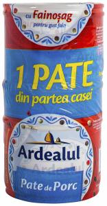 Pate porc 2+1 gratis Ardealul 2x200G + 1x100G gratis