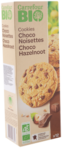 Biscuiti cu ciocolata si alune Carrefour Bio 200g