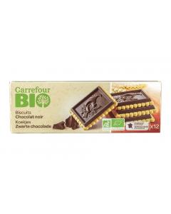 Biscuiti cu unt si ciocolata neagra Carrefour Bio 150g