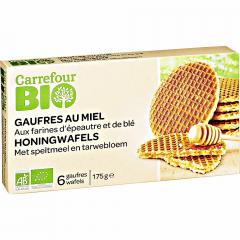 Gaufre cu miere Carrefour Bio 175g