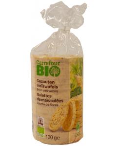 Rondele bio de porumb Carrefour Bio 120g