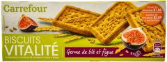 Biscuiti cu germeni de grau si smochine Carrefour 200g