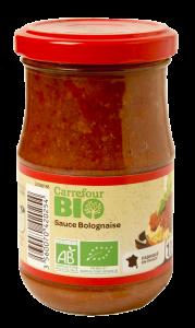 Sos de rosii cu carne bio  Carrefour Bio 190g