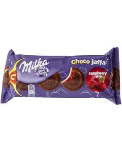 Biscuiti cu jeleu de zmeura Milka Choco Jaffa 147g
