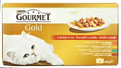 Hrana completa pentru pisici adulte Gourmet Gold Mus 340g