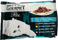 Hrana completa pentru pisici adulte Gourmet Perle Purina 4 x 85 g