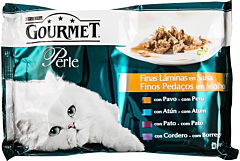 Hrana pentru pisici mini fileuri in sos Purina Gourmet 4 x 85 g