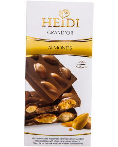 Ciocolata cu migdale Heidi 100g