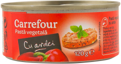 Pasta vegetala cu ardei Carrefour 120g