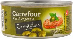 Pasta vegetala cu masline Carrefour 120g
