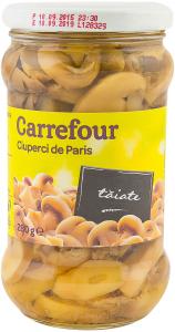 Ciuperci de Paris taiate Carrefour 280g