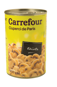 Ciuperci de Paris taiate Carrefour 360g